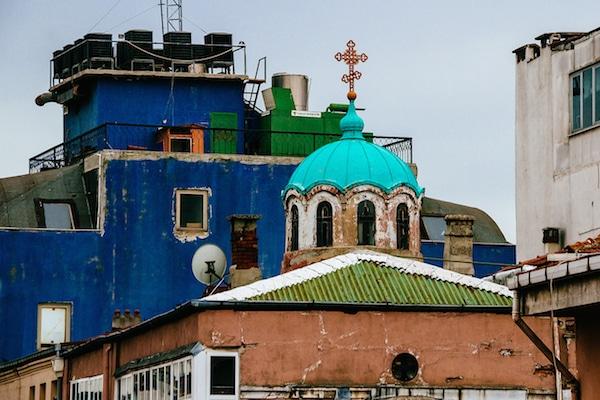 L'église orthodoxe russe Saint-André.
