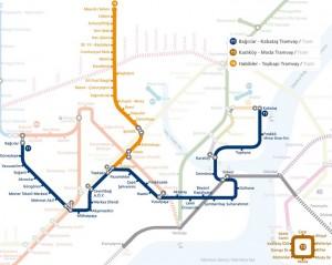 Plan du tramway Istanbul