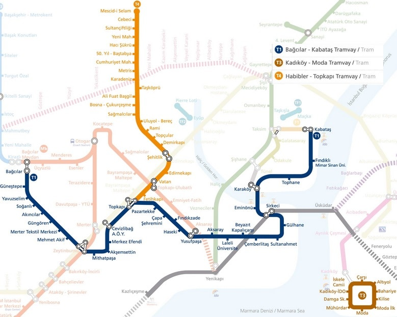 Istanbul Subway Map 2015.Our Guide To Public Transportation In Istanbul