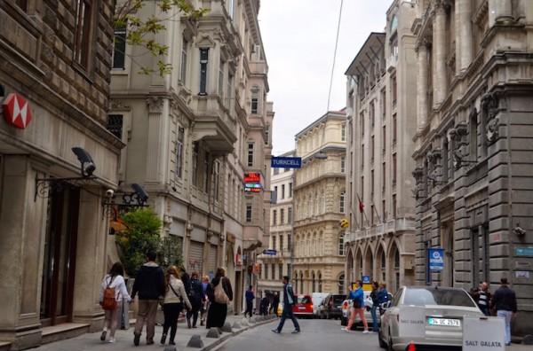 rue des Banques à Karaköy