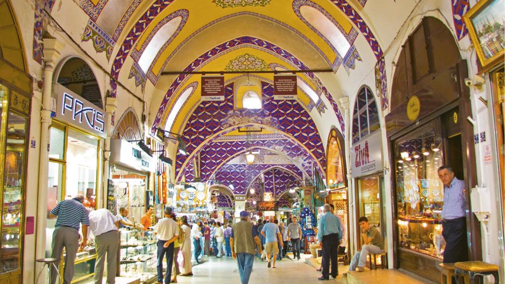 L'intérieur du Grand Bazar d'Istanbul