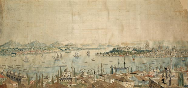 Panorama_of_Istanbul_Ottoman,_late_18th_–_early_19th_century_58x27.1cm_SHM_12449_-_I_.1285_
