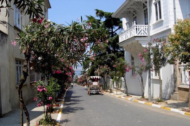Typical street of Buyukada