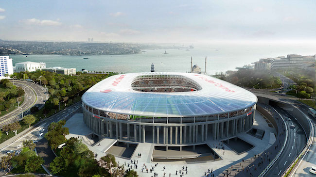 The Vodafone Arena, home of Beşiktaş, will open the second part of the season 2015-2016