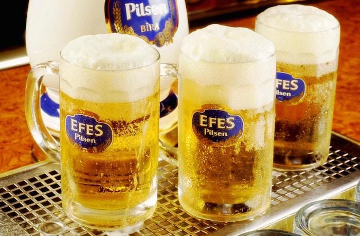 Efes, la première marque de bière turque.