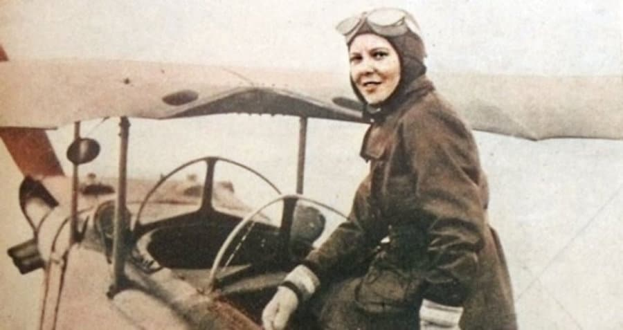 Sabiha Gökçen, the first female fighter pilot in the world