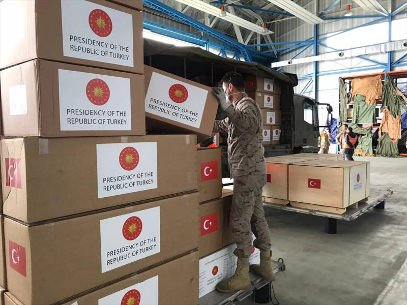 Medical-aid-from-Turkey-delivered-in-Spain.